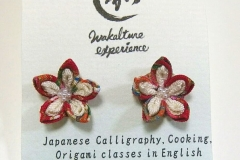 Tsumami flower earrings